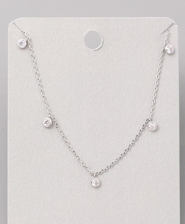 Station Necklace | Silver