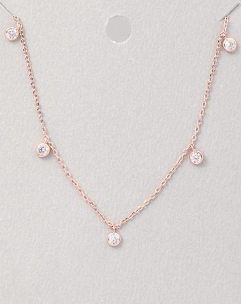 Station Necklace | Rose Gold