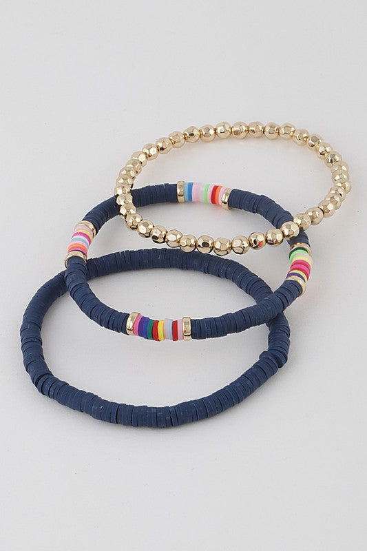 Marin Beaded Bracelet Stack | 5 Colors Available