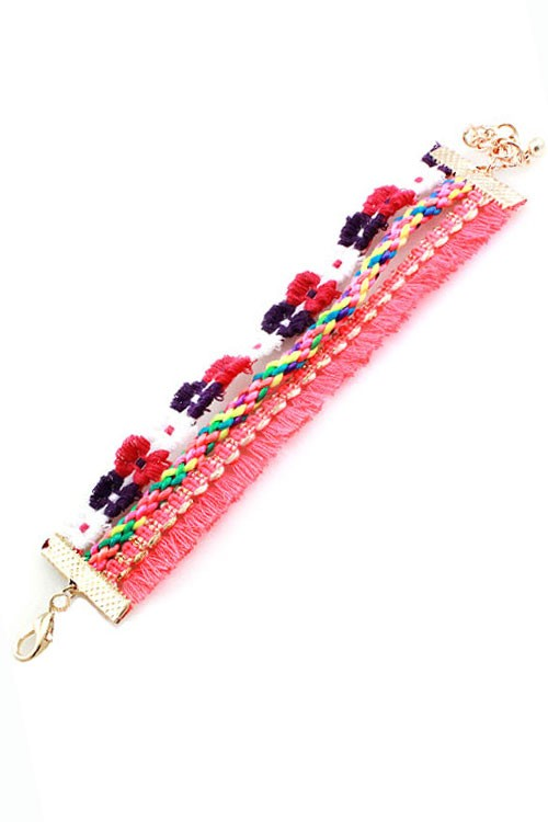 Tassel Bracelet | Purple