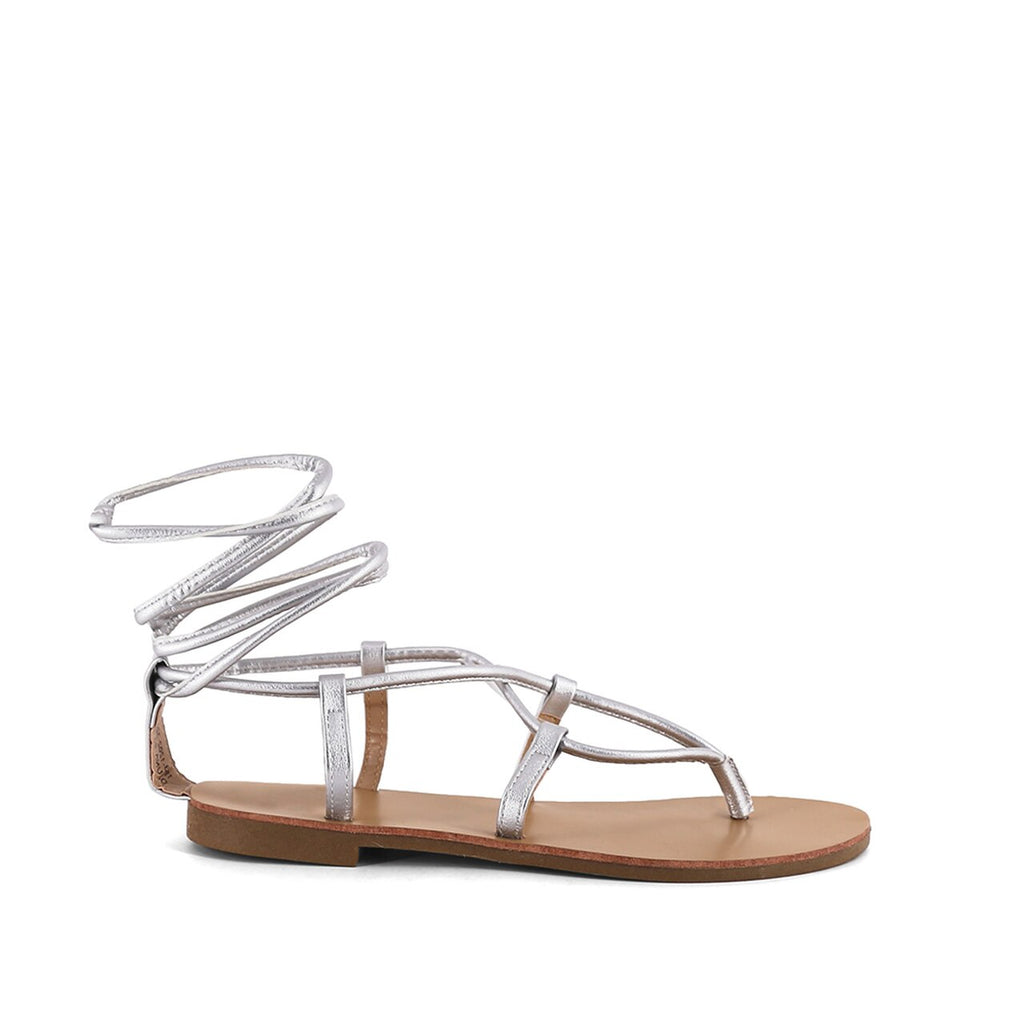 Jacque Lace Up Sandal | Silver