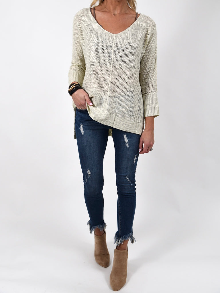 Indie Lightweight Sweater | Ivory