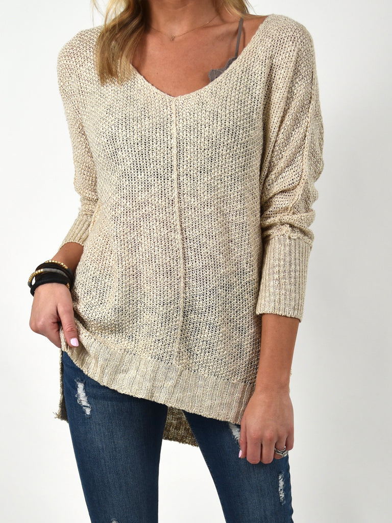 Indie Lightweight Sweater | Khaki | FINAL SALE