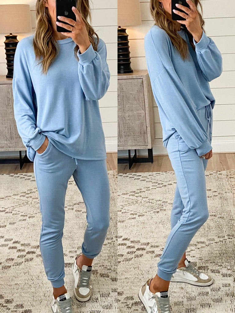 Claremont Lounge Pullover | Carolina Blue | +Plus Available