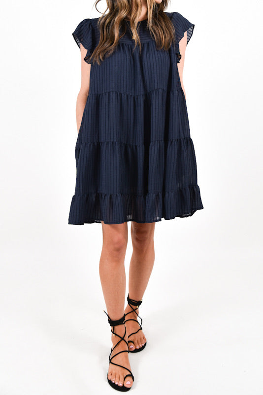 Michelle Babydoll Dress | Navy | FINAL SALE