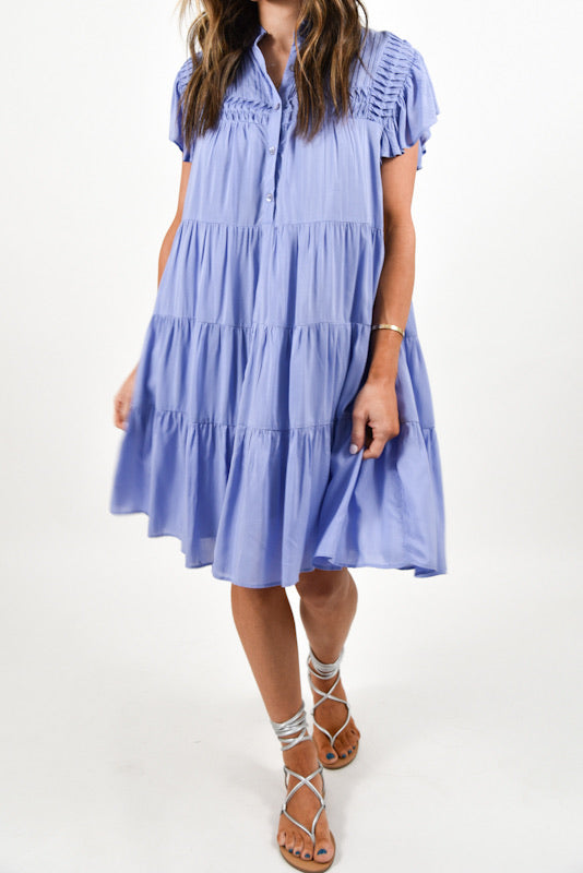 Ulla Tiered Dress | Periwinkle