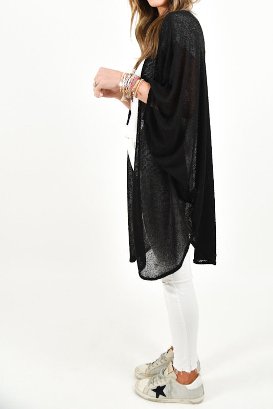 Into It Kimono | Black | +Plus Available