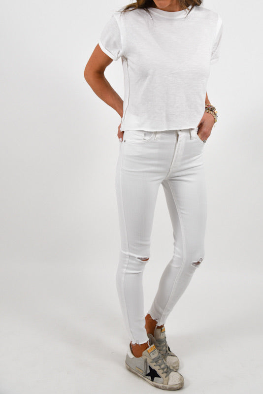 Walk This Way Skinny Jeans | White