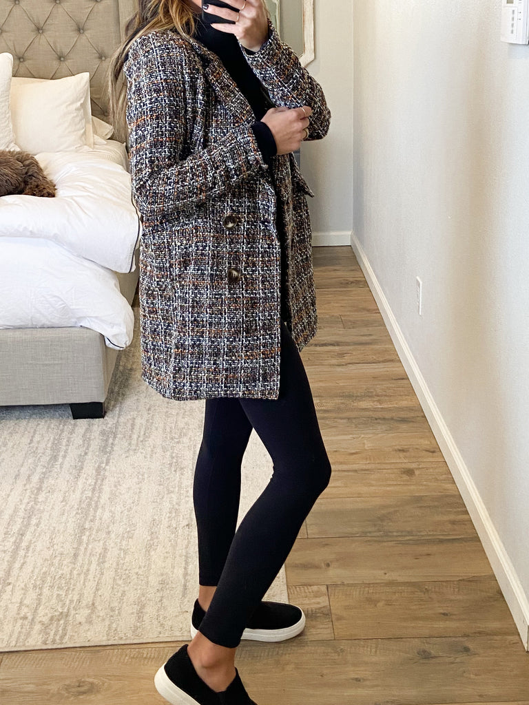 Jax Tweed Blazer | Brown