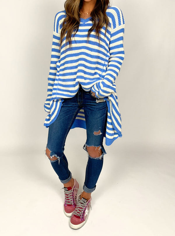 Beach Nights Sweater | Sky Blue