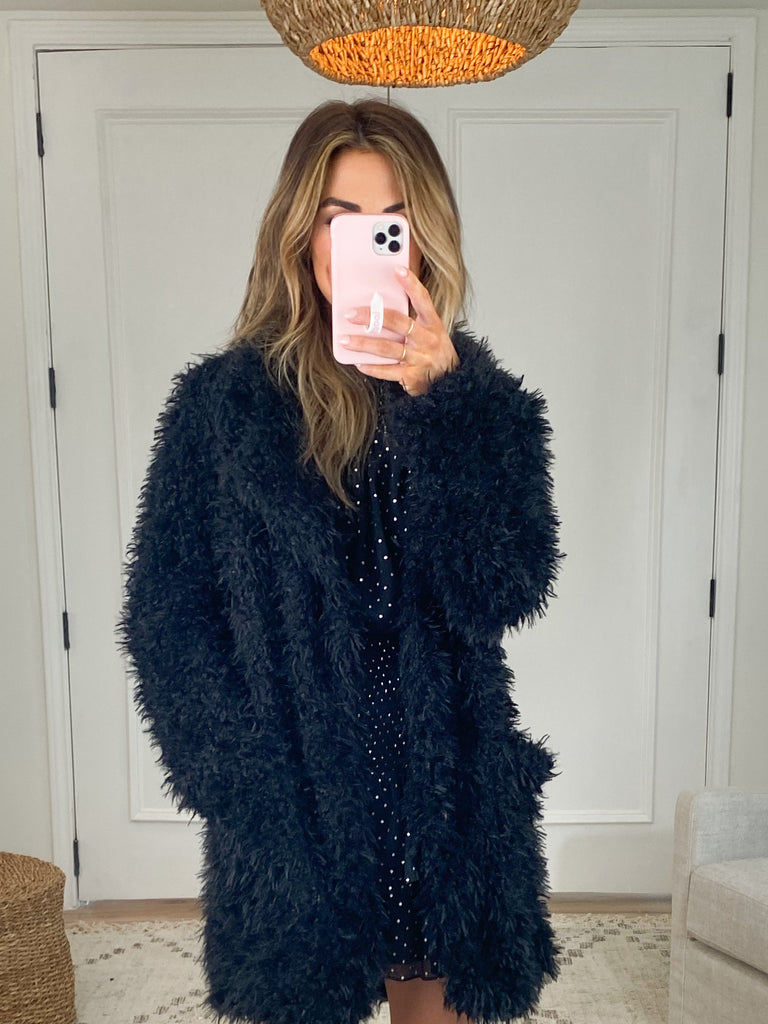 Brenna Shaggy Jacket | Black