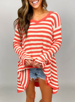 Beach Nights Sweater | Coral FINAL SALE