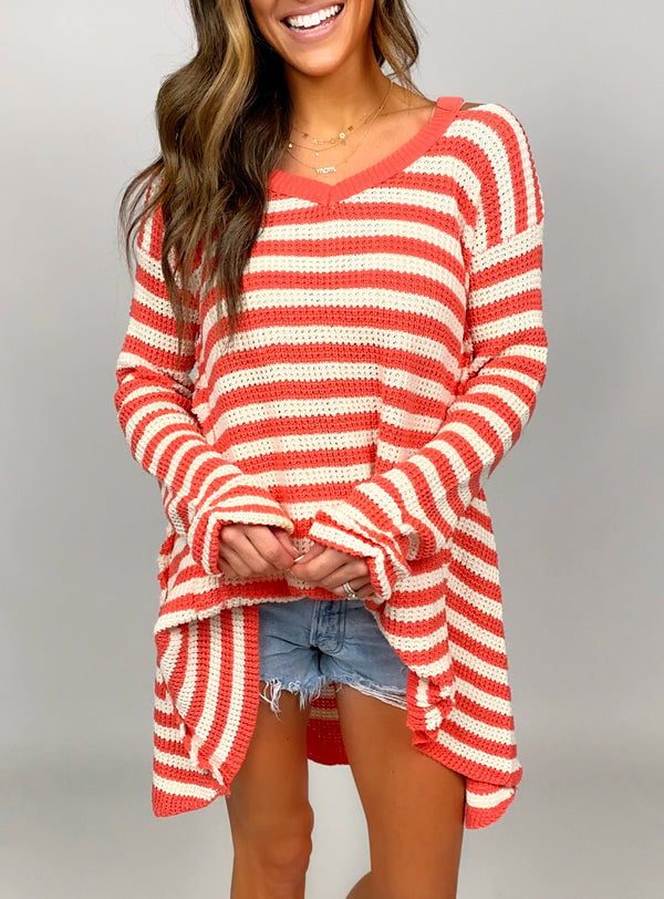 Beach Nights Sweater | Coral