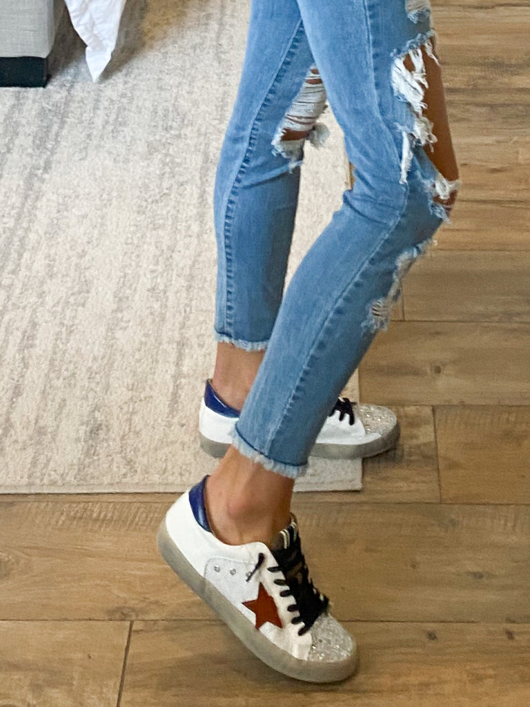 Sparkle Star Sneakers | Blue