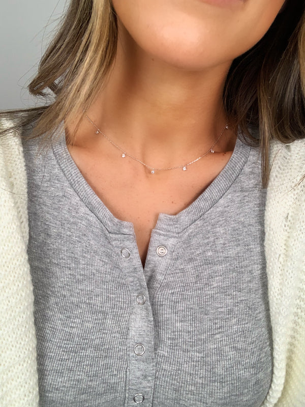 Station Necklace | Gold