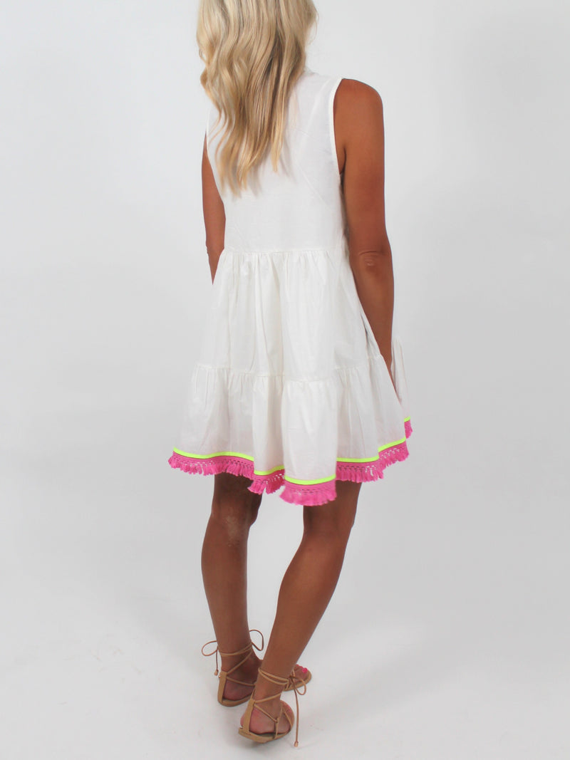 Embroidered Shift Dress | Ivory | FINAL SALE