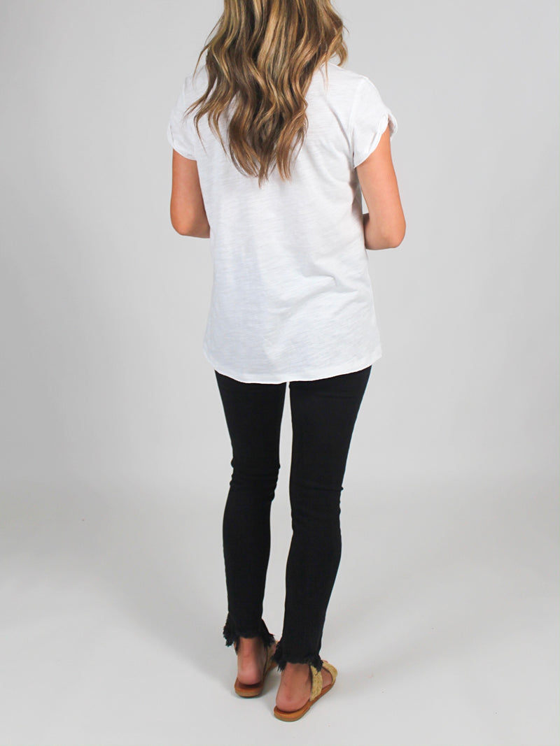 Lay Low Tee | White