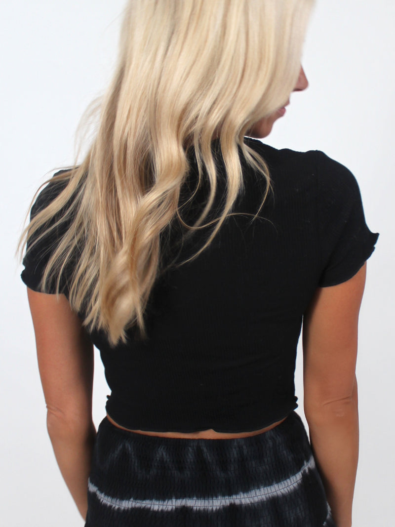 The Simple Life Crop Top | Black