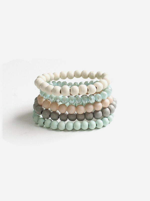 Beaded Stack | Teal