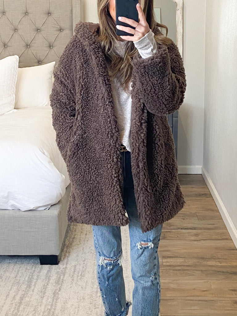 Landyn Hooded Teddy Jacket