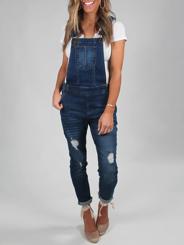 The Best Distressed Denim Overalls