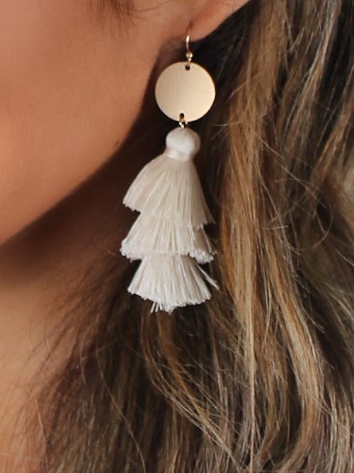 Playa Tassel Earrings | Ivory