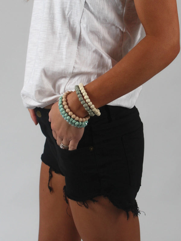 Below The Radar Stretchy Denim Shorts | Black