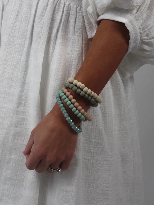 Arm Party Beaded Stack | Teal