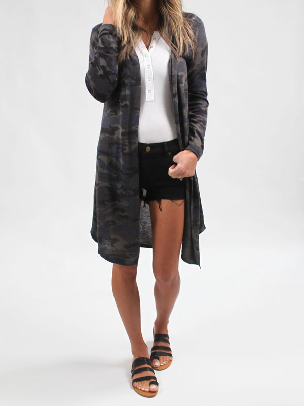 Under Cover Comfy Cardigan | Camo