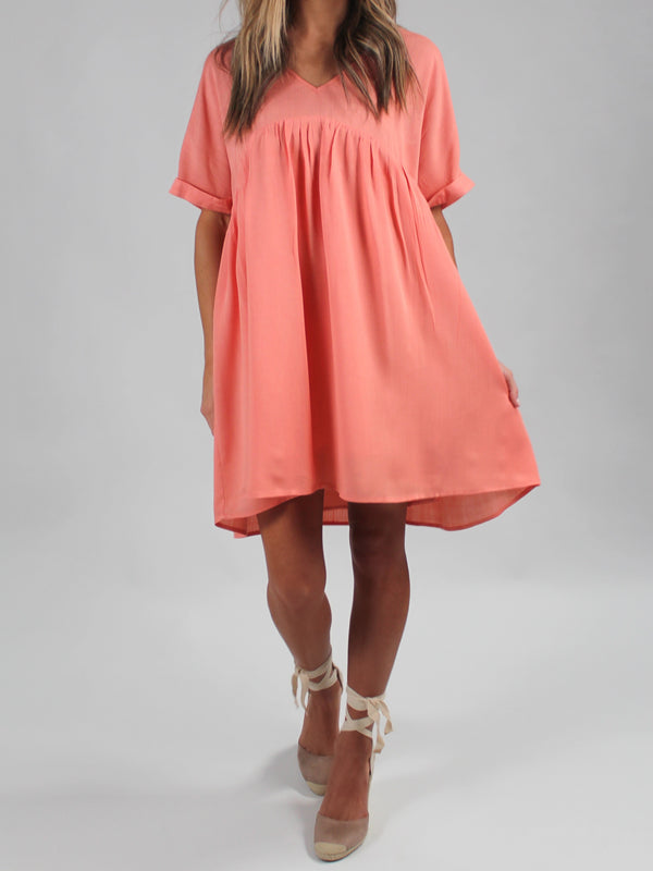 Easy Breezy Dress | Salmon