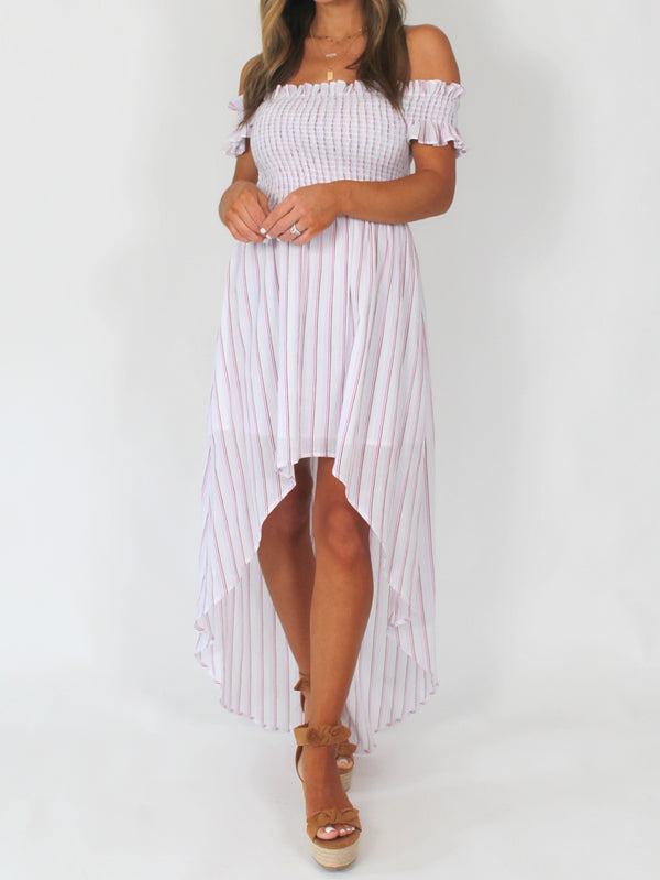 Back in Paradise Smocked Hi-Low Dress | FINAL SALE