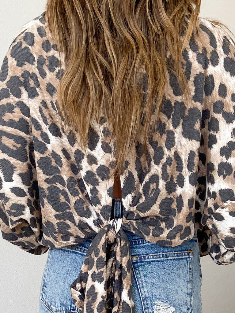 Kendall Leopard Open Back Top