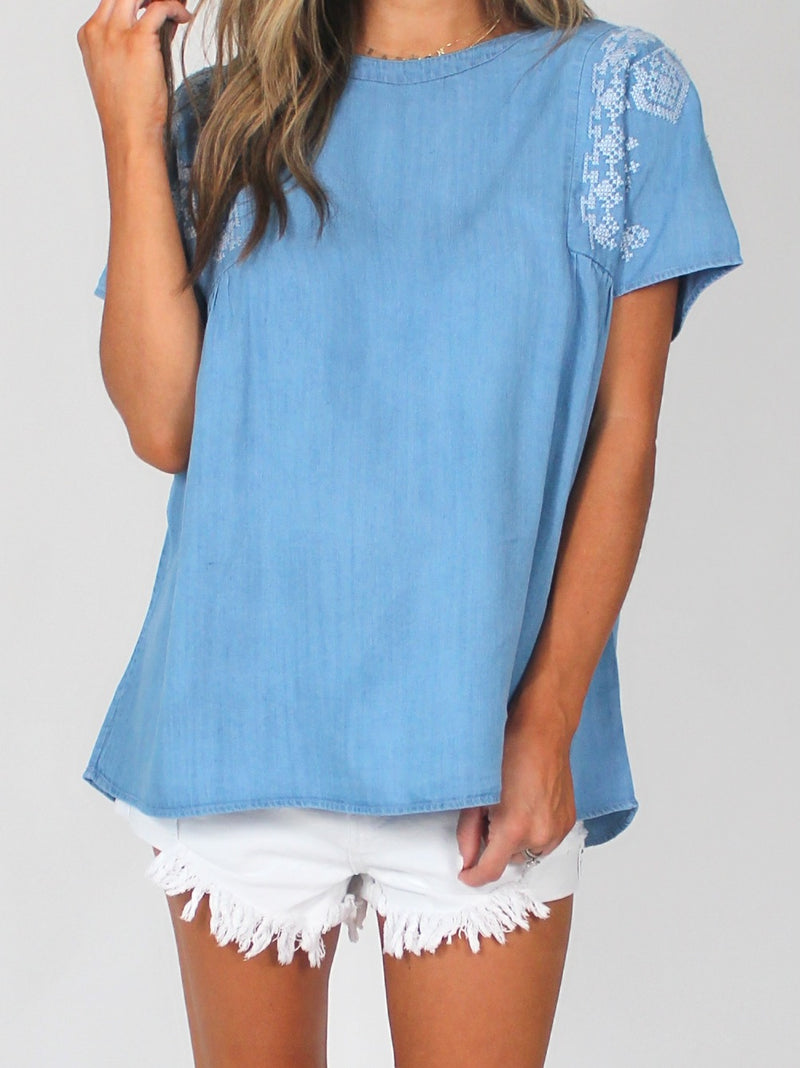 Isabel Chambray Top | RESTOCK!