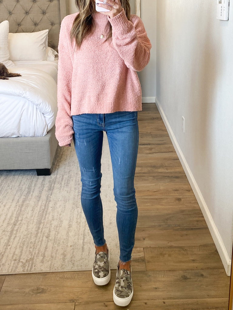 Rock Canyon Knit Sweater | Misty Rose