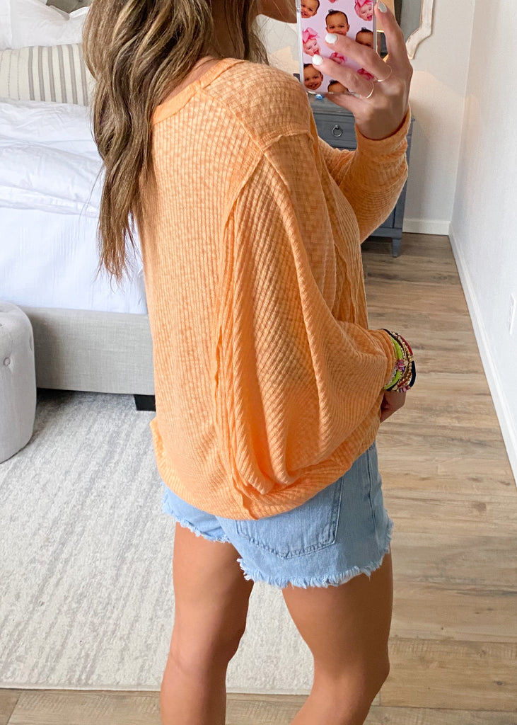Light Up Thermal Top | Peach