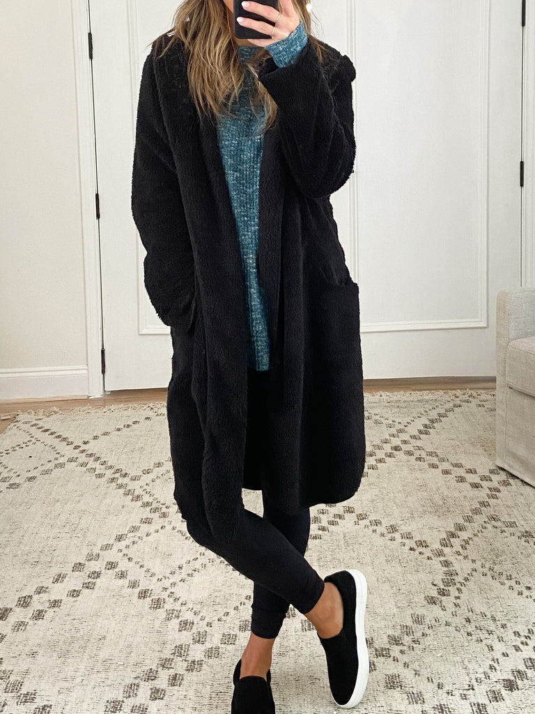 Colleen Teddy Coat | Black