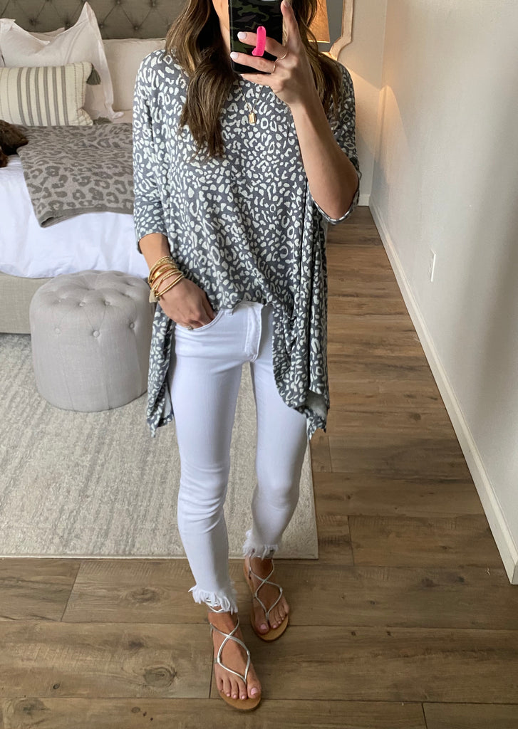All The Time Leopard Top | +Plus Available
