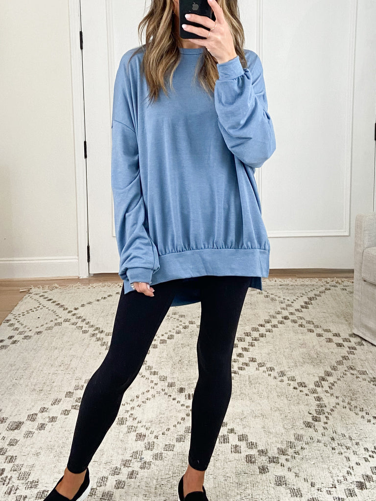 Comfy Pullover | Dusty Blue | +Plus Available