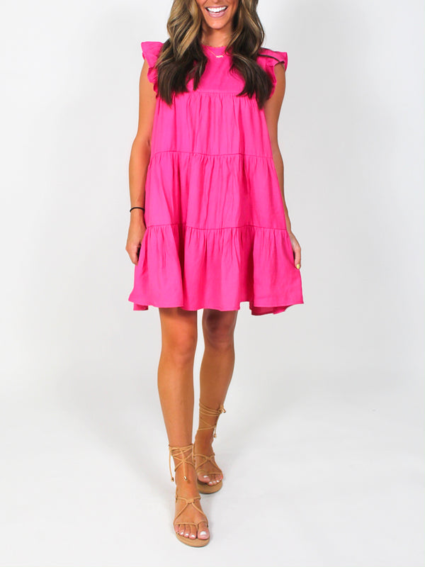 Effortless Shift Dress | Hot Pink
