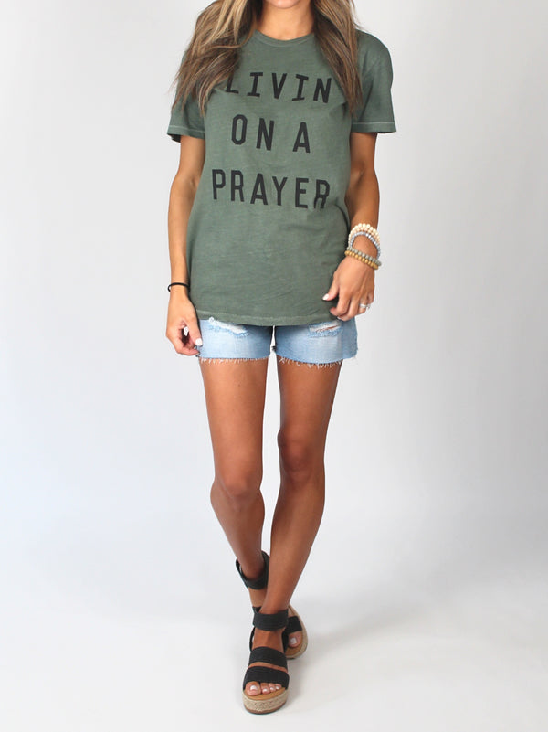 Livin' On A Prayer Distressed Tee