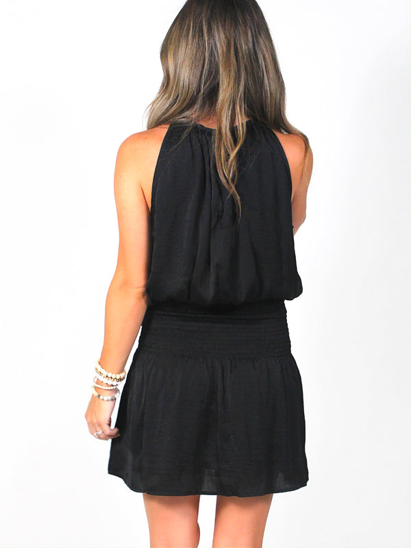The Kayleigh Smocked Dress | Black | FINAL SALE