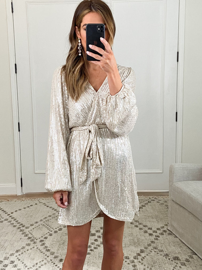 Flashing Lights Wrap Dress | FINAL SALE