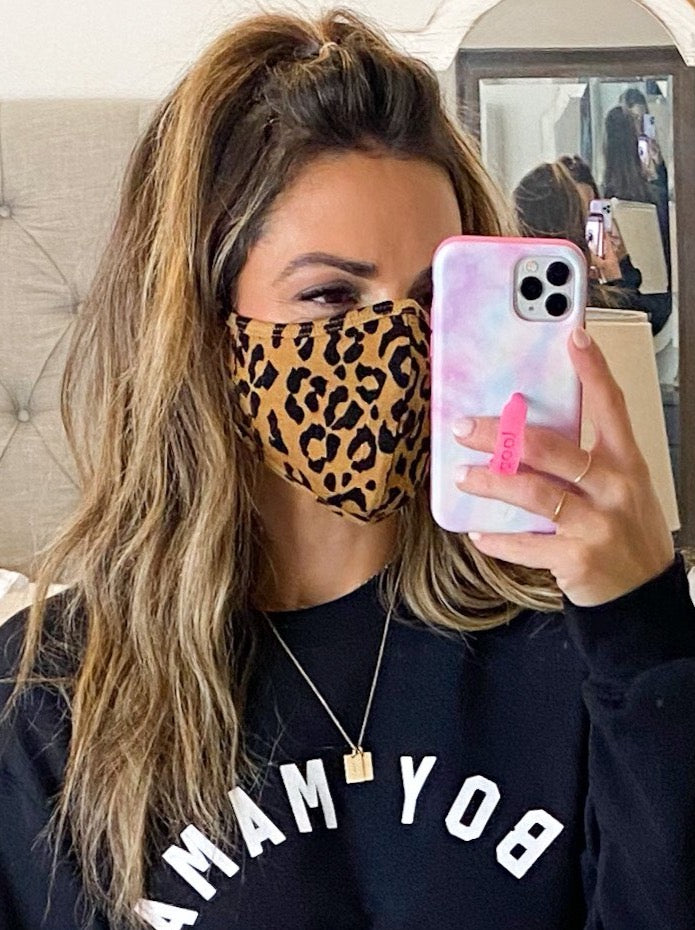 Double Layer Face Mask | Leopard