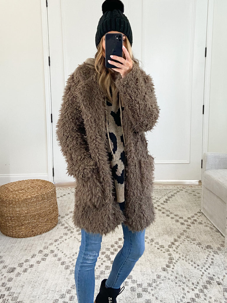 Brenna Shaggy Jacket | Toffee