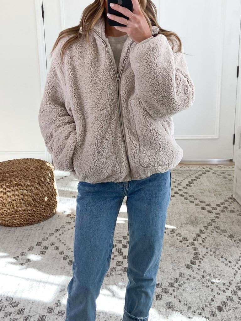 Way Home Sherpa Jacket | Oatmeal | FINAL SALE