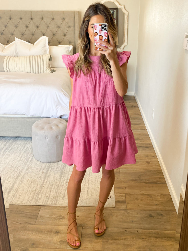 All In Favor Shift Dress | Raspberry