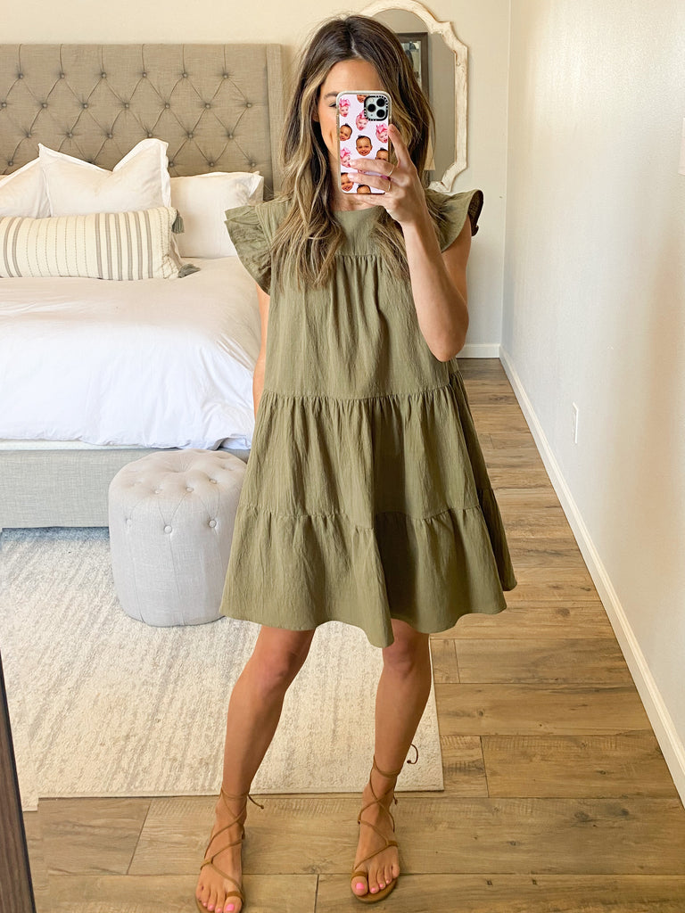 All In Favor Shift Dress | Olive | Restock