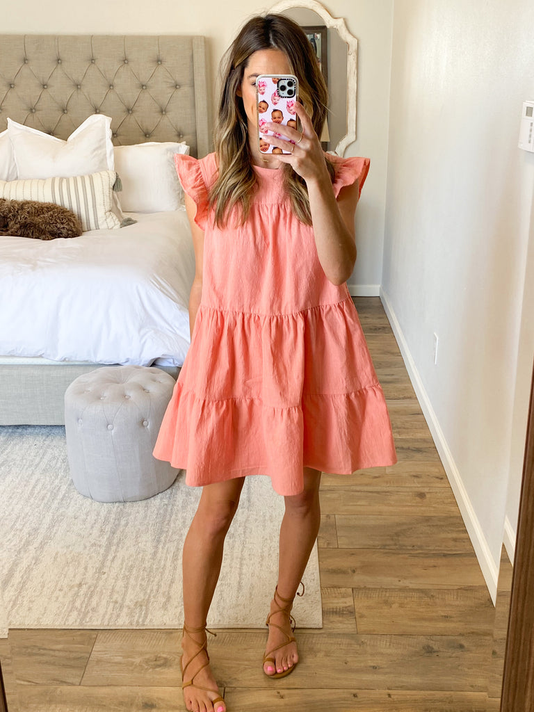 All In Favor Shift Dress | Coral