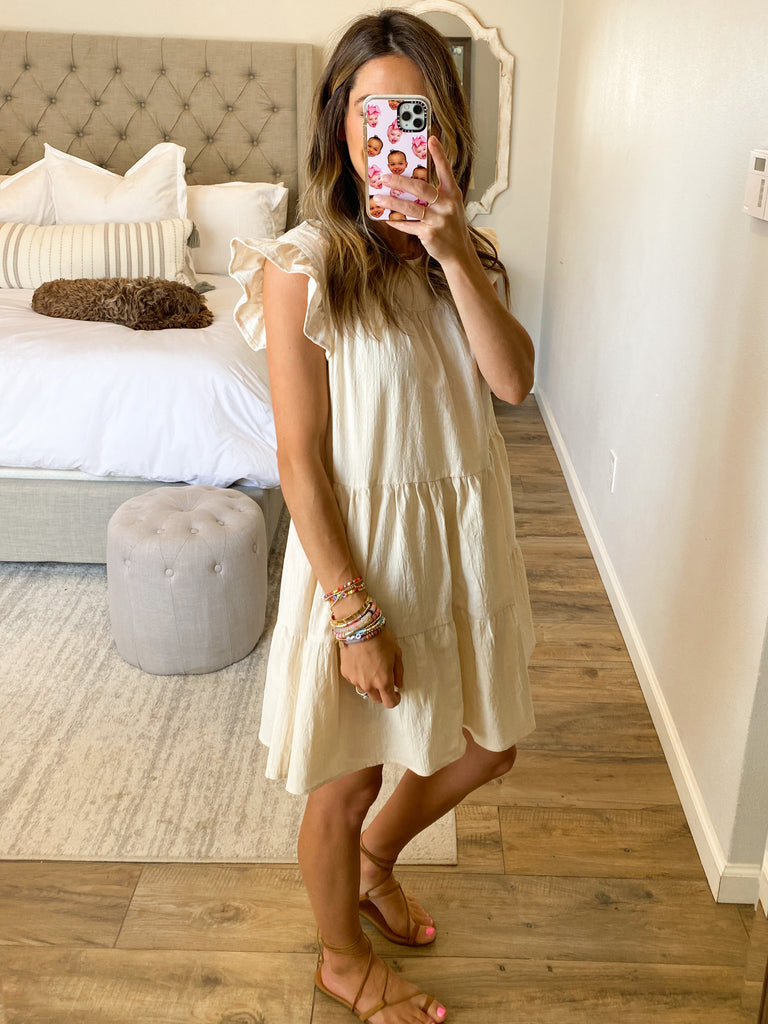 All In Favor Shift Dress | Cream