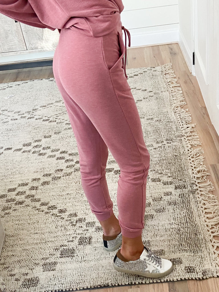 Claremont Lounge Joggers | Rose | +Plus Available